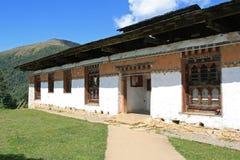 The entrance of a monastic school built near Gangtey, Bhutan Royalty Free Stock Photo