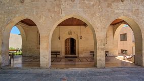 Entrance of Mor Petrus and Mor Pevlus church in the city of Adiyaman, Turkey Stock Image