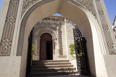 Entrance of mosque stock photos