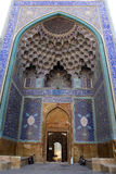 Entrance of mosque and bikes. Imam mosque near square Imam im Esfahan, Iran Stock Photo
