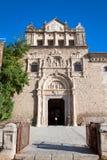 Entrance in museum Santa Cruz in Toledo, Spain. Beautiful building of Santa Cruz museum in Toledo, Spain royalty free stock photo