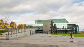 Entrance of the music hall Musikkitalo in Helisnki Finland Stock Photo
