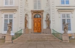 Entrance of Myslewicki Palace (1779) in Warsaw, Poland Stock Image
