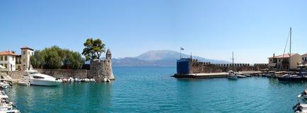 Entrance of Nafpaktos port Stock Photos