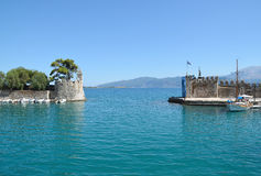 Entrance of Nafpaktos port Royalty Free Stock Photography