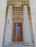 Entrance of the National university of Athens Royalty Free Stock Photos