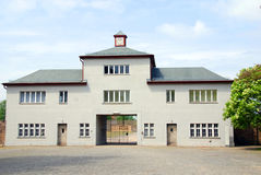 Entrance of Nazi concentration camp Royalty Free Stock Photography