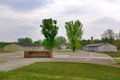 Entrance of Nazi concentration camp Stock Image
