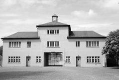 Entrance of Nazi concentration camp Royalty Free Stock Image