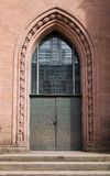 Entrance of Evangelical church (1864) in Offenburg, Germany Stock Photography
