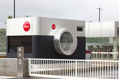 Entrance of the new factory of the iconic Leica in Portugal Royalty Free Stock Photos