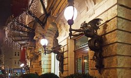 New york cafe in budapest. The entrance of New york cafe in budapest royalty free stock photo