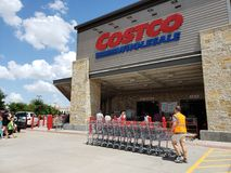 Entrance of nice store Costco in TX USA Royalty Free Stock Images