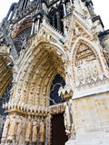 Entrance in Notre-Dame Cathedral in Reims, France Royalty Free Stock Image