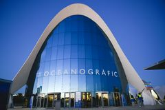 Entrance of oceanografic Valencia Royalty Free Stock Images