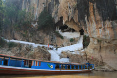 Entrance Of Pak Ou Caves Royalty Free Stock Photo