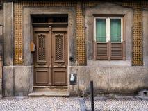 Entrance of an old building in Bairro Alto, Lisbon, Portuga Stock Photos