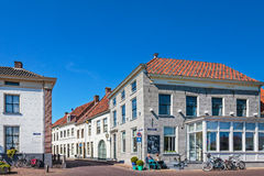 Entrance of the old Dutch city district of Buren Royalty Free Stock Photography