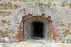 Entrance into old fortress Stock Photos