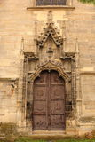 Entrance of old gothic church Royalty Free Stock Photos
