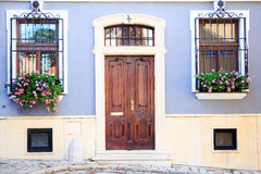 Entrance of an old house. Beautiful entrance of an old house Stock Photo