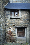 A entrance of an old house in the little town of Ordino Stock Images