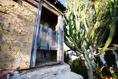 Entrance of an old house in the village royalty free stock photography