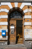 Entrance old houses Royalty Free Stock Photography