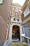 Entrance. Old orphanage entrance in amsterdam Royalty Free Stock Images