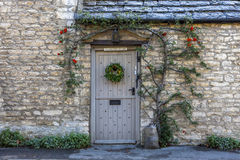 Entrance of Old Rectory Cottage in Castle Combe Stock Image