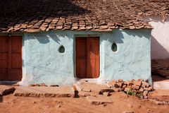 Entrance of the old village house Royalty Free Stock Images