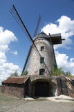 Entrance of Old windmill. On blue sky Royalty Free Stock Photography