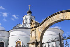 Entrance in orhtodox church. Detail of entrance in orhtodox church Royalty Free Stock Images