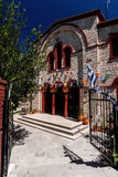 Entrance of orthodox church in Pefkochori, Greece Stock Photos