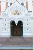 Entrance Orthodox Church Tallinn, Estonia royalty free stock photos