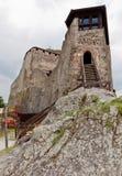 Entrance palace fortress Visegrad, Hungary stock photos