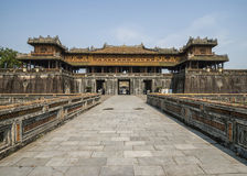 Entrance palace and gate to the Hué Citadel. Royalty Free Stock Image