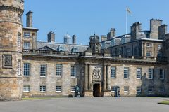 Palace of Holyrood house Edinburgh, official residence Monarchy in Scotland stock images