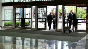 Entrance of Pan Pacific Vancouver hotel. At downtown Vancouver stock video footage
