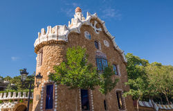 Entrance of the Park Guell by architect Antoni Gaudi, Barcelona. Stock Image