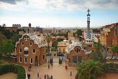 Entrance in Park Guell in Barcelona Stock Photo