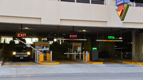 Entrance parking garage Royalty Free Stock Photography