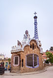 Entrance pavilion of the Park Guell in Barcelona, Spain Royalty Free Stock Photo