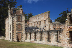 Entrance of the penitentiary building of Port Arthur Stock Photo