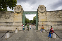Entrance of Pere Lachaise Royalty Free Stock Photos