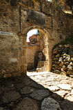 Entrance of PeriBleptos monastery. Entrance of PeriBleptos Byzantine monastery of the 13th century in Mistras Royalty Free Stock Images