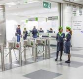 Entrance of the Photokina - Hostesses Stock Photos