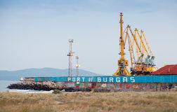 Entrance pier to the port of Burgas, Black Sea Stock Photography