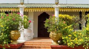 Entrance between pillars Royalty Free Stock Image