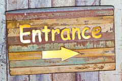 Entrance plate Royalty Free Stock Images